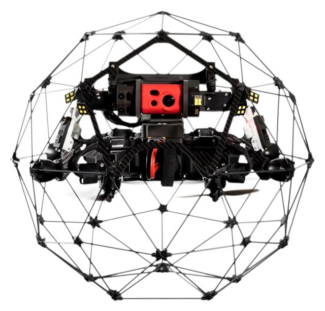 Flyability представила промышленный дрон для инспекции помещений Elios 2